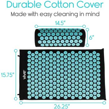 Vive Acupressure Mat and Pillow Set